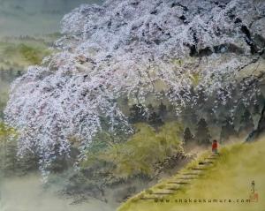 Albero di Ciliegio - Sakura, Dipinto di Shoko Okomura