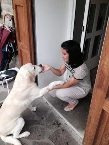 Benedetta e il suo cagnolone